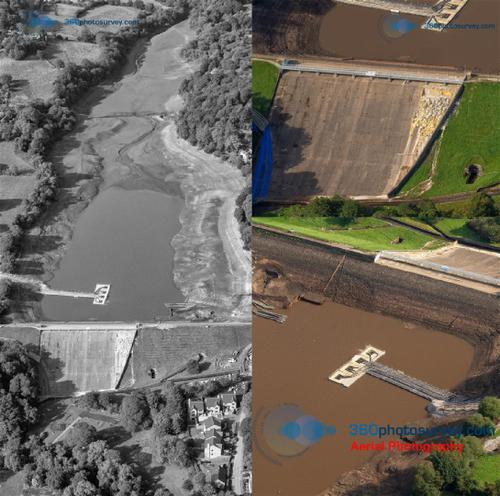 Aerial Photographer UK Whaley Bridge Dam