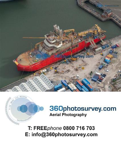 Aerial photographer for Marine Projects
